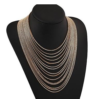 masoo női meleg értékesítési luxus többrétegű nyaklánc