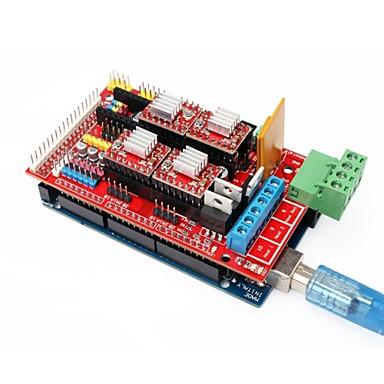 3d printer mega 2560 R3 + ramps 1.4 breiden schild + 4988 stepper driver set