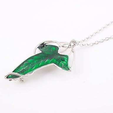 forme des feuilles de la mode collier vert alliage film pendentif (1 pc)