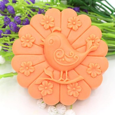птица животное цветок в форме помады торт шоколадный силиконовые формы торт украшение инструменты, l10.1cm * w10.1cm * h3.9cm