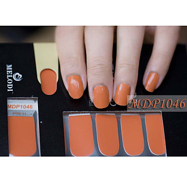 14PCS Pure Color Nail Art Stickers MDP1046