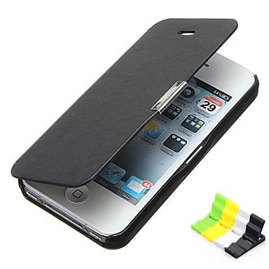 Etui Til iPhone 5C / Apple Heldekkende etui Hard PU Leather til iPhone 5c