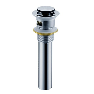 Wasserhahn Zubehör - Gehobene Qualität - Moderne Messing Pop-up-Wasserablauf ohne Überlauf - Fertig - Chrom