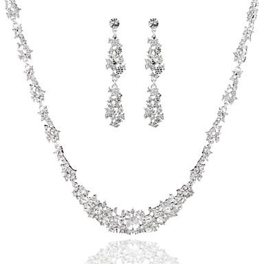 Sieraden set Dames Jublieum / Bruiloft / Verloving / Verjaardag / Geschenk / Speciale gelegenheden Sieraden Sets Licht Metaal Bergkristal
