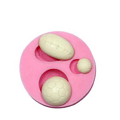 스포츠 공 3D 퐁당 실리콘 장식 몰드 초콜릿 몰드 실리콘 케이크 디자인 케이크 도구
