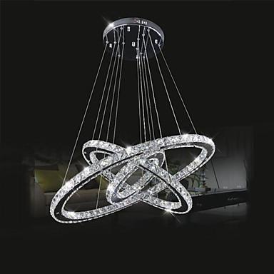 Circulaire Lustre Lumière d'ambiance - Cristal, LED, 110-120V / 220-240V, Blanc Neige, Source lumineuse de LED incluse / 15-20㎡