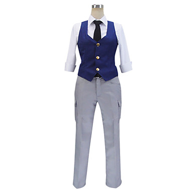 Inspired by Assassination Classroom Cosplay Anime Cosplay Costumes Cosplay Suits Patchwork Vest Shirt Pants Belt Tie For Male