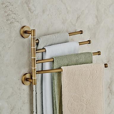 Towel Bar Antique Brass 1 pc - Hotel bath 4-towel bar