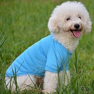 honden T-shirt Rood / Groen / Blauw Hondenkleding Zomer Bruiloft / Cosplay