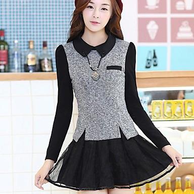 9427d4bb192 vintage sexy ležérní micro elastický dlouhý rukáv mini šaty dámské (mesh  bavlna)