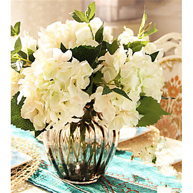 2 분기 폴리에스터 수국 테이블  플라워 인공 꽃