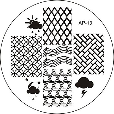 Nail Art Stamp Stamping Image Template Plate AP Series NO.13