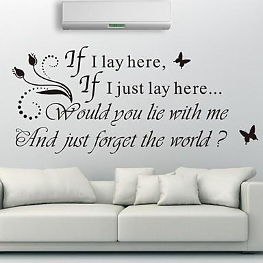 стикеры стены наклейки для стен английские слова&цитирует наклейки стены PVC