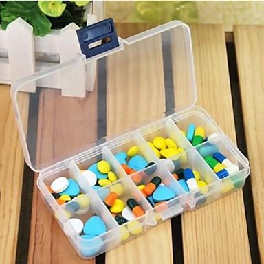 Travel Podróżne pudełko/pojemnik na leki Prostokąt Niezbędniki podróżne do nagłych wypadków Tworzywo sztuczne