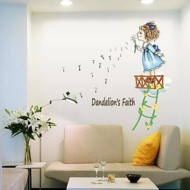 Menschen Cartoon Design Wand-Sticker Flugzeug-Wand Sticker Dekorative Wand Sticker, Vinyl Haus Dekoration Wandtattoo Wand