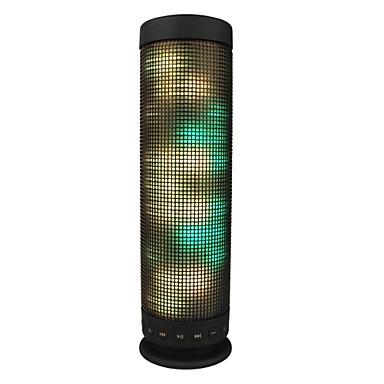 LED Işık mikrofon bult- Hafıza Kartı Desteği Stereo Bluetooth 4.0 3.5mm AUX USB Kablosuz bluetooth hoparlörler Siyah
