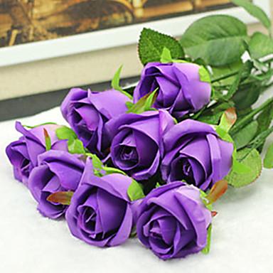 Kunstige blomster 2 Gren Bryllupsblomster Roser Bordblomst