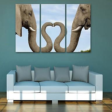 Ζώα Κλασσικό, Τρίπτυχα Καμβάς Κάθετο Εμπριμέ Wall Decor Αρχική Διακόσμηση