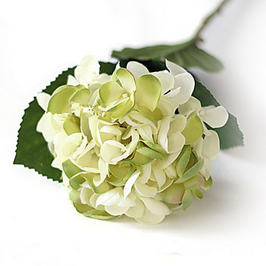Branch Polyester Hydrangeas Tabletop Flower Artificial Flowers