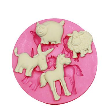 dyr form mold sau gris esel hest kake dekorert silikon mold for fondant godteri håndverk smykker PMC harpiks leire