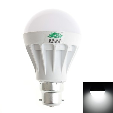B22 Ampoules Globe LED A70 12 diodes électroluminescentes SMD 5630 Décorative Blanc Froid 600lm 6000-6500K AC 100-240V