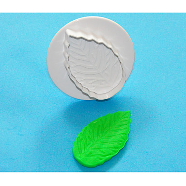 네-C 대형 장미 잎 플라스틱 퐁당 케이크 플런저 커터, 최신 케이크 장식 용품 1PCS