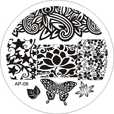 Nail Art Stamp Stamping Image Template Plate AP Series NO.8