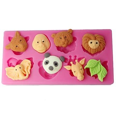 Négy-c cupcake formák erdei állatok cukorpaszta formák szín rózsaszín