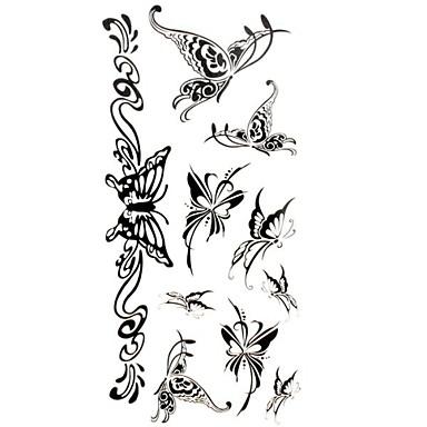 - Dövme Etiketleri - Temalı/Lower Back/Waterproof - Hayvan Serileri - Kadın/Yetişkin/Genç - Çokrenkli - Kağıt - 1 -Adet 18.5*8.5cm