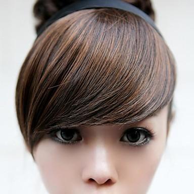새로운 특수 머리 후프 가발 갈색 강타 수정 얼굴