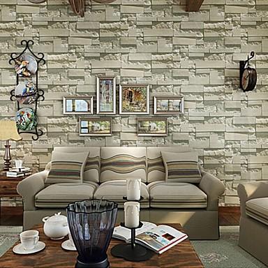 contemporary brick wallpaper geometric wall covering pvc/vinyl wall