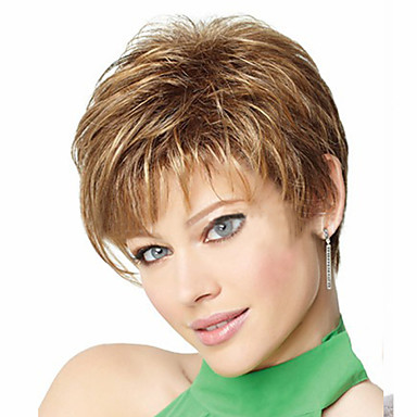 Syntetiske parykker Krøllet Asymmetrisk frisyre Syntetisk hår Naturlig hårlinje Blond Parykk Dame Kort Cosplay-parykk / Kostyme Parykk /