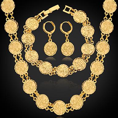 Damen vergoldet Schmuck-Set Ohrringe / Halsketten / Armband - Silber / Golden Schmuckset Für Hochzeit / Party / Alltag