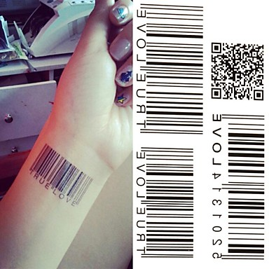 1 Non Toxic Lower Back Waterproof Message Series Tattoo Stickers