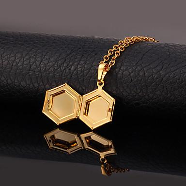 Kadın's Uçlu Kolyeler / Lockets Kolye - Altın Kaplama Moda Kolyeler Uyumluluk Düğün, Özel Anlar, Doğumgünü