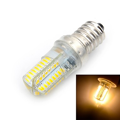 E14 Ampoules Maïs LED T 64 diodes électroluminescentes SMD 3014 Blanc Chaud 500-600lm 3000K AC 100-240V