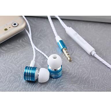iphone ve diğer telefonlar için msd-m3 3.5mm gürültü önleyici ses kontrol mikrofon kulak içi kulaklık