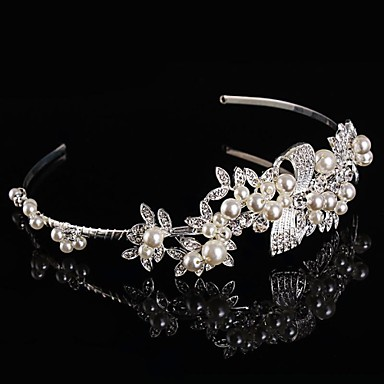 Bridal Baroque Crown Silver Tiara Queen Crystal Hairclips
