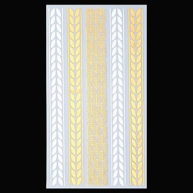 Tatoeagestickers - Patroon/Onderrrug/Waterproof - Sieraden Series - voor Dames/Heren/Volwassene/Tiener - Goud/Zilver - Papier - 1 - stuks 23.5*11cm