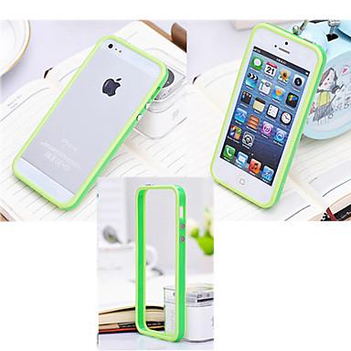 Pouzdro Uyumluluk iPhone 5 Apple iPhone 5 Kılıf Şoka Dayanıklı Tampon Tek Renk Sert Silikon için iPhone SE/5s iPhone 5