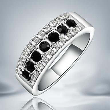 Damen Bandring Silber Sterling Silber Kubikzirkonia Diamantimitate Schmuck mit Aussage Modisch Party Modeschmuck