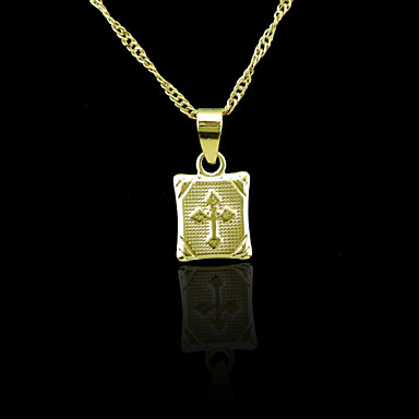 18K Real Gold Plated Pendant 2*1CM
