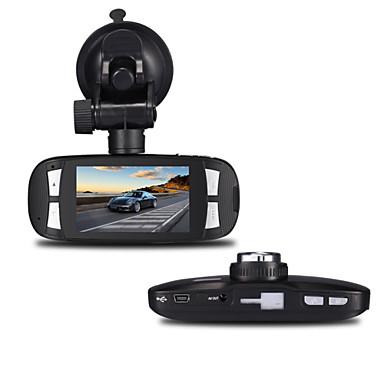 billige Bil-DVR-h200 1080p / Full HD 1920 x 1080 Full HD / HD Bil DVR 120 grader Bred vinkel 5 MP CMOS 2.7 tommers LCD Dash Cam med G-Sensor 1 infrarød