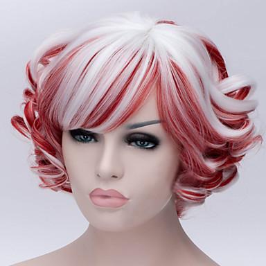 Perruque Synthétique Bouclé Femme Long Cheveux Synthétiques