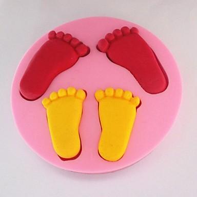 Formy silikonowe formy do pieczenia stóp do pieczenia na ciasto czekoladowe galaretki (losowe kolory)