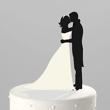 Tortenfiguren & Dekoration Garten Klassisches Paar Acryl Hochzeit Jahrestag Brautparty mit 1 OPP