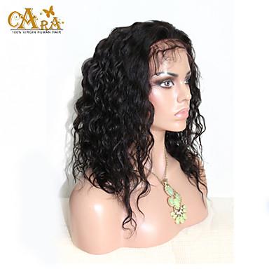 Perruque Naturelle Dentelle Cheveux humains Lace Front Densité Droite Perruque Couleur naturelle Court Mi Longue Long