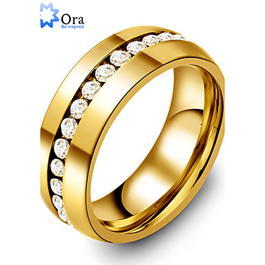 Men's Women's Statement Ring Fashion Gold Stainless Steel Costume Jewelry Party