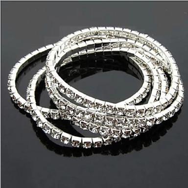 Lucky Star Women's Elegant Rhinestone Thin Bracelet Elegant Style