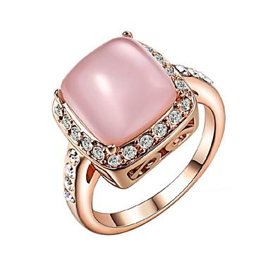 여성용 진술서 반지 크리스탈 모조 다이아몬드 오팔 합금 결혼식 파티 일상 캐쥬얼 의상 보석